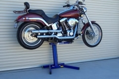 Australian Harley Davidson on Big Blue Lift