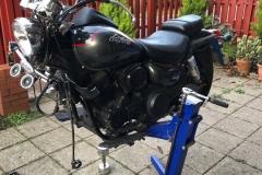 Service Big Blue motorcycle lift