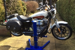 Harley lifted with Big Blue