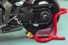Front or rear wheel motorcycle wheel chock