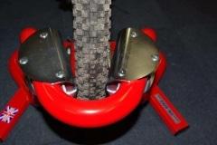 Motorcycle wheel chock reducer kit